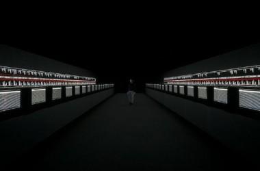 Ryoji Ikeda's installation, Supersymmetry. Photo: Jana Chiellino